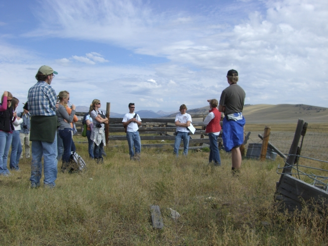 University of Colorado's School of Architecture graduate students beginning their design work at Buffalo Peaks Ranch.