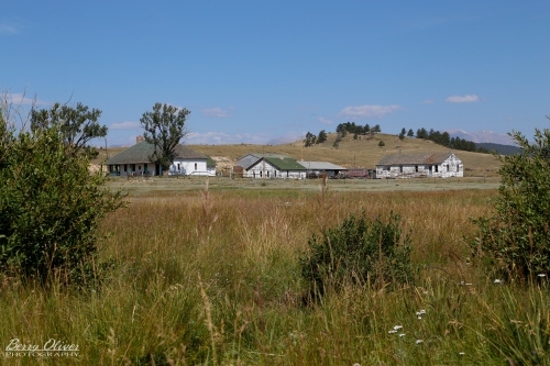 A good view of the ranch complex from the east.