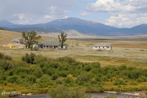 Buffalo Peaks Ranch, with Mount Silverheels on the horizon.