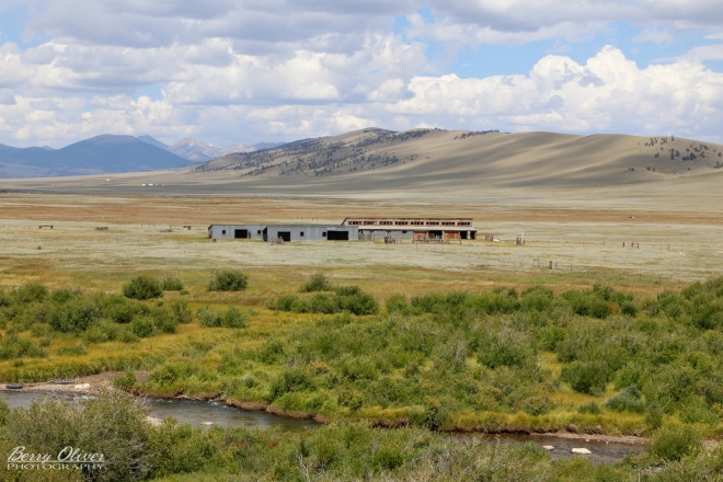 The Lambing Barn at Buffalo Peaks Ranch, along the Middle Fork of the South Platte River. (photo by Berry Oliver)