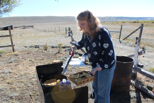 A new Buffalo Peaks Ranch tradition: Ann's dutch oven biscuits, a real highlight of every ranch tour!