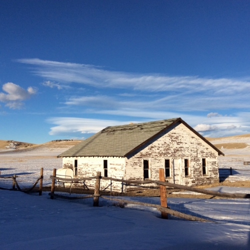 South Park's deep blue sky and the Bunkhouse we'll be repairing this summer.