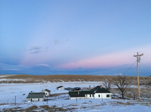 Buffalo Peaks Ranch at dusk. No elk in sight, but they'll be at the ranch any time now!