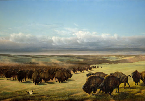 The Gathering of the Herds, William Jacob Hays, 1866, 42x75.6""