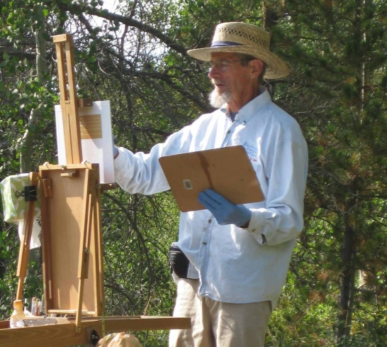Michael Keyes painting en plein air